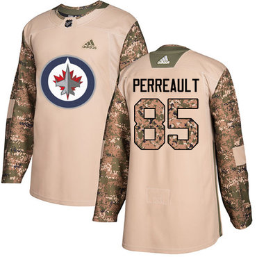 Adidas Jets #85 Mathieu Perreault Camo Authentic 2017 Veterans Day Stitched NHL Jersey