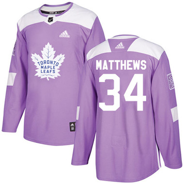 new style b8ef8 155b4 Adidas Maple Leafs #34 Auston Matthews Purple Authentic ...