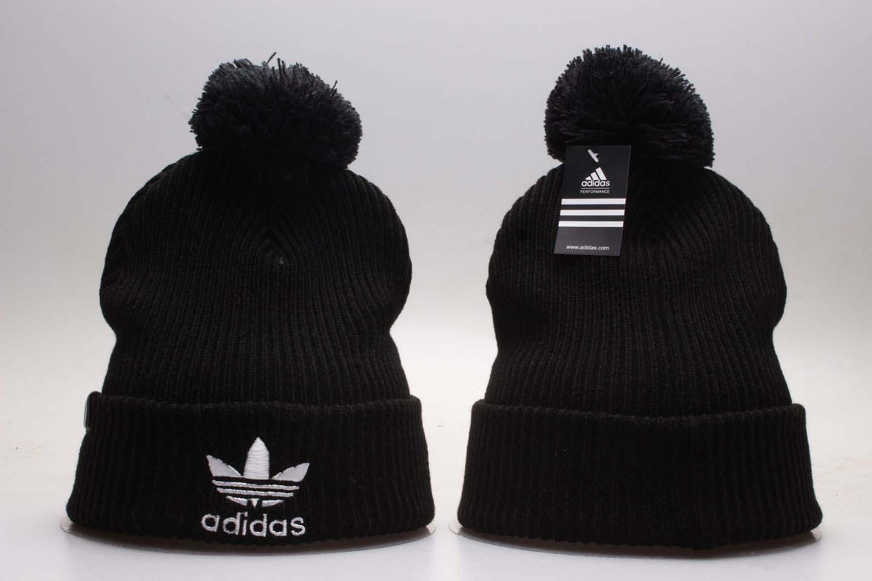 Adidas Originals Black Fashion Sport Pom Knit Hat YP