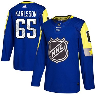 Adidas Senators #65 Erik Karlsson Royal 2018 All-Star Atlantic Division Authentic Stitched Youth NHL Jersey