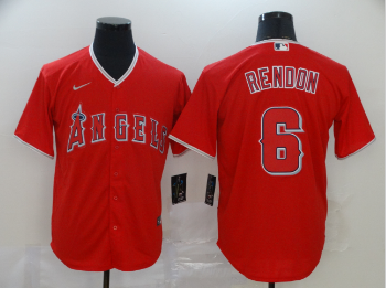 Angels 6 Anthony Rendon Red 2020 Nike Cool Base Jersey