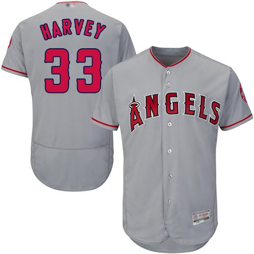 Angels of Anaheim #33 Matt Harvey Grey Flexbase Authentic Collection Stitched Baseball Jersey
