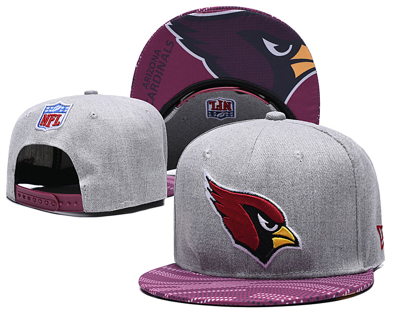 Arizona Cardinals Team Logo Gray Adjustable Hat TX