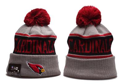 Arizona Cardinals Team Logo Gray Red Pom Knit Hat YP