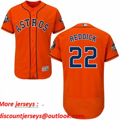 Astros #22 Josh Reddick Orange Flexbase Authentic Collection 2019 World Series Bound Stitched Baseball Jersey