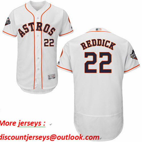 Astros #22 Josh Reddick White Flexbase Authentic Collection 2019 World Series Bound Stitched Baseball Jersey