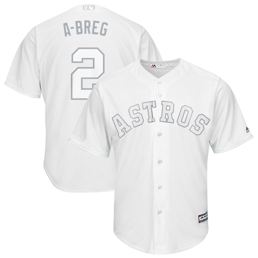 Astros 2 Alex Bregman A-Breg White 2019 Players' Weekend Player Jersey