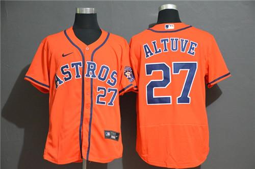 Astros 27 Jose Altuve Orange 2020 Nike Flexbase Jersey