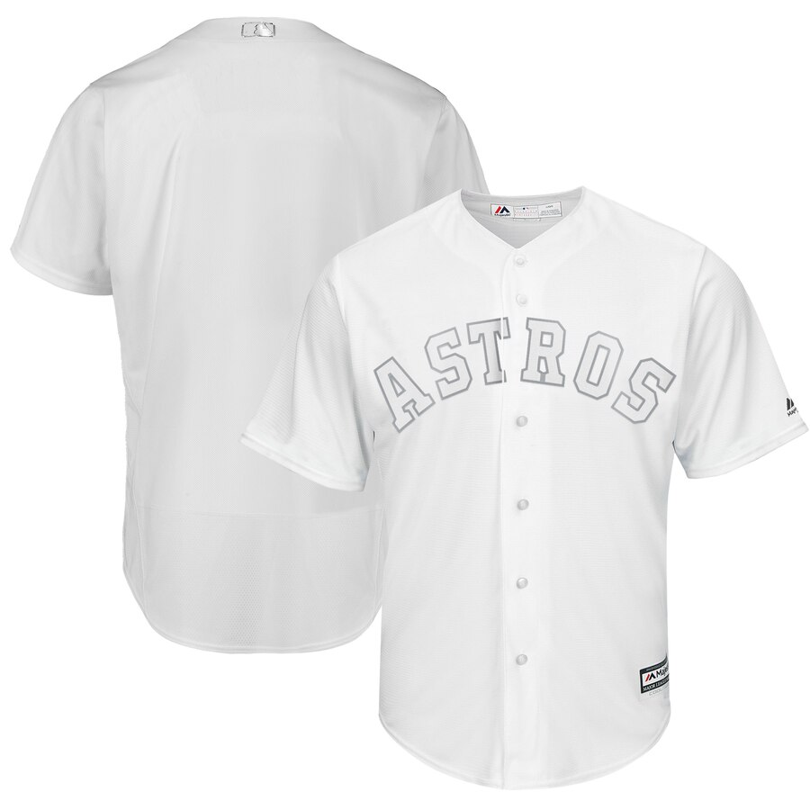 Astros Blank White 2019 Players' Weekend Player Jersey