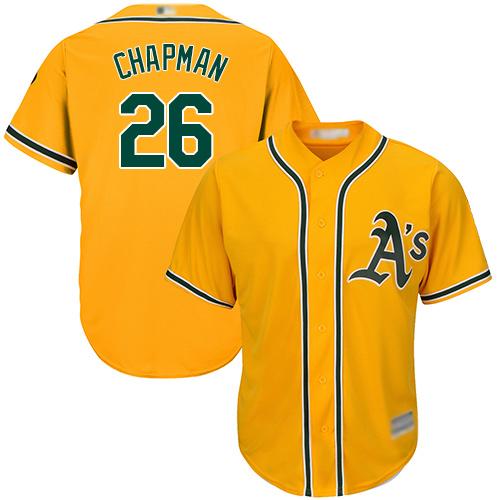 Athletics #26 Matt Chapman Gold New Cool Base Stitched Baseball Jersey