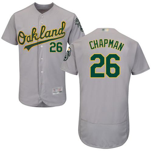 Athletics #26 Matt Chapman Grey Flexbase Authentic Collection Stitched Baseball Jersey
