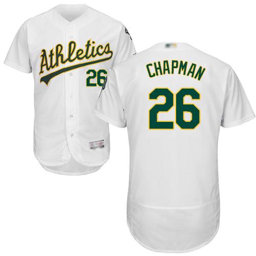 Athletics #26 Matt Chapman White Flexbase Authentic Collection Stitched Baseball Jersey