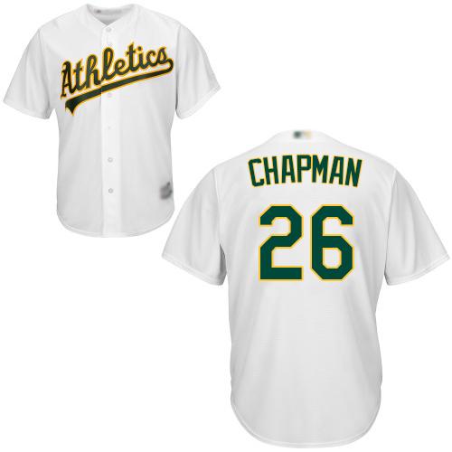 Athletics #26 Matt Chapman White New Cool Base Stitched Baseball Jersey