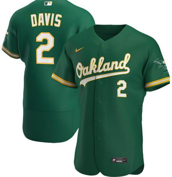 Athletics 2 Khris Davis Green 2020 Nike Flexbase Jersey
