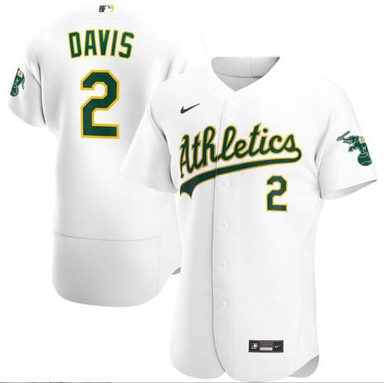 Athletics 2 Khris Davis White 2020 Nike Flexbase Jersey