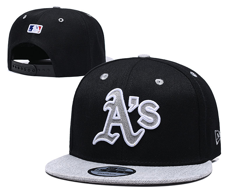 Athletics Team Logo Black Gray Adjustable Hat TX