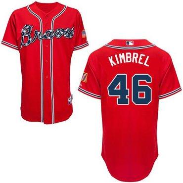 best website 055c0 dc977 Atlanta Braves #46 Craig Kimbrel Red Cool Base Baseball ...