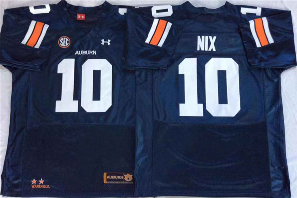 Auburn Tigers 10 Bo Nix Navy College Football Jersey