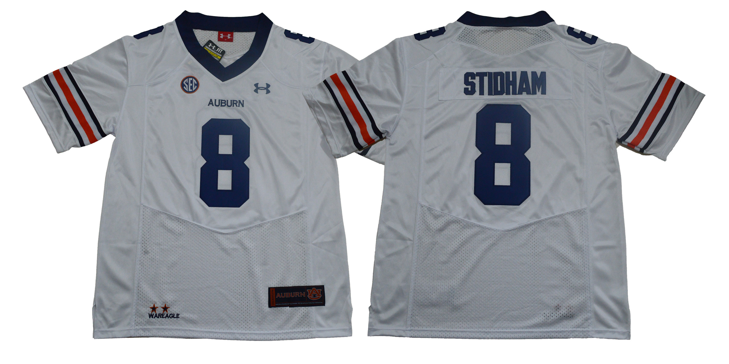 Auburn Tigers 8 Jarrett Stidham White College Football Jersey
