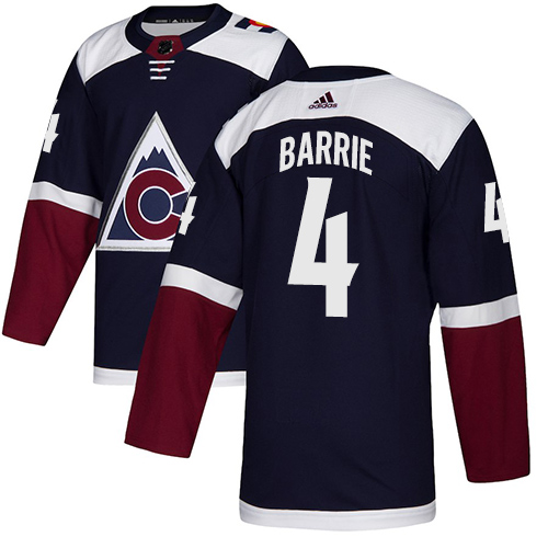 Avalanche #4 Tyson Barrie Navy Alternate Authentic Stitched Hockey Jersey