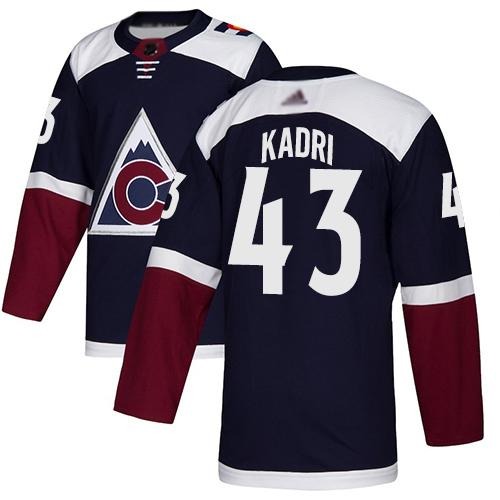 Avalanche #43 Nazem Kadri Navy Alternate Authentic Stitched Hockey Jersey
