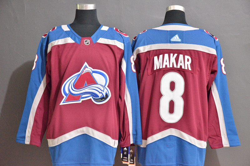 Avalanche 8 Cale Makar Blue Red Adidas Jersey