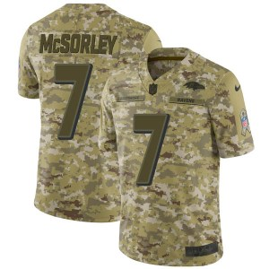 Baltimore Ravens #7 Trace McSorley 2018 Green Sault to service Jersey
