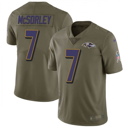 Baltimore Ravens #7 Trace McSorley Green Sault to service Jersey