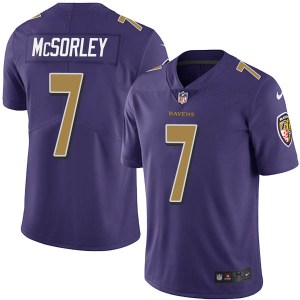 Baltimore Ravens #7 Trace McSorley Purple Vapor Untouchable Limited Jersey