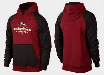 Discount Baltimore Ravens Logo Pullover Hoodie Black & Red on sale,for Cheap