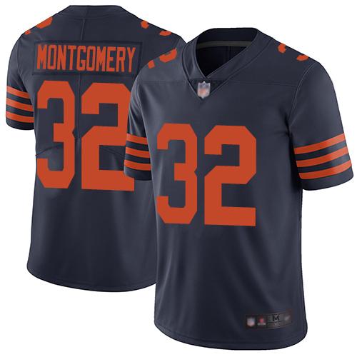 Bears #32 David Montgomery Navy Blue Alternate Men's Stitched Football Vapor Untouchable Limited Jersey