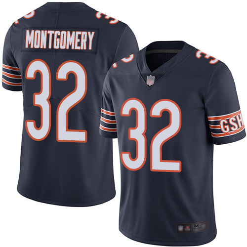 Bears #32 David Montgomery Navy Blue Team Color Men's Stitched Football Vapor Untouchable Limited Jersey