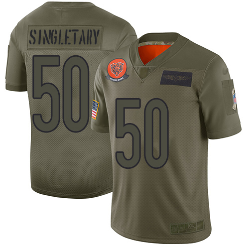 Bears #50 Mike Singletary Camo Men's Stitched Football Limited 2019 Salute To Service Jersey