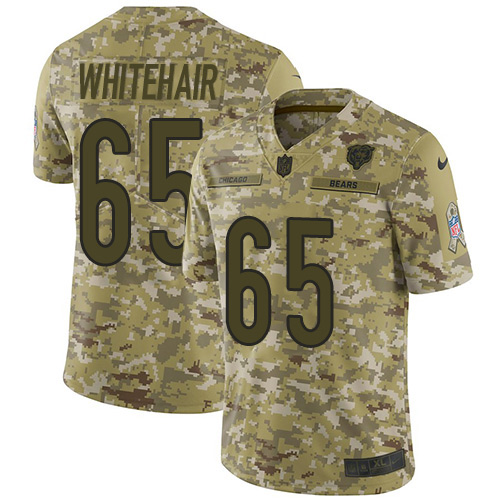 Bears #65 Cody Whitehair Camo Youth Stitched Football Limited 2018 Salute to Service Jersey