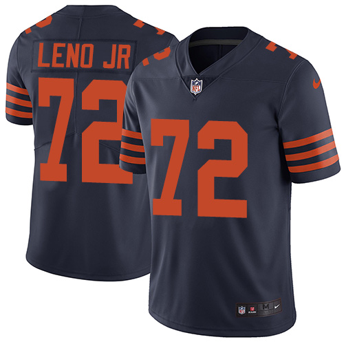 Bears #72 Charles Leno Jr Navy Blue Alternate Youth Stitched Football Vapor Untouchable Limited Jersey