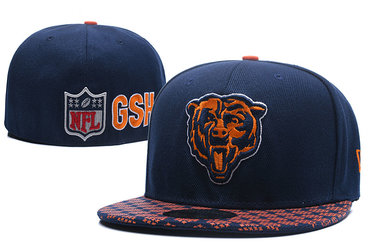 Bears Team Logo Navy Fitted Hat LX