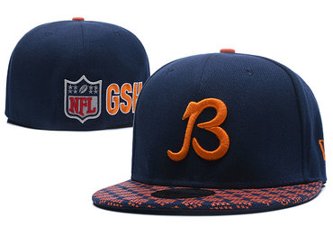 Bears Team Logo Navy Fitted Hat LX2