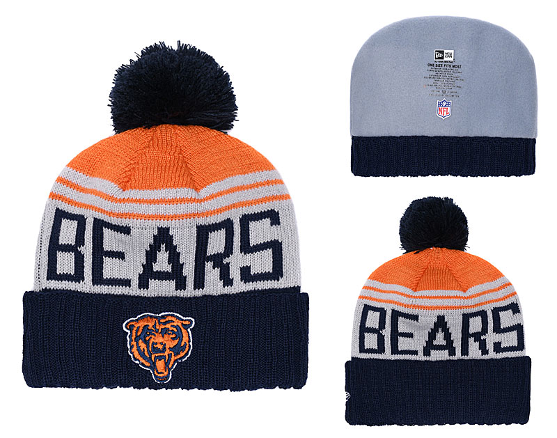 Bears Team Logo Navy Knit Hat YD