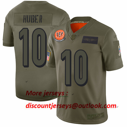 Bengals #10 Kevin Huber Camo Men's Stitched Football Limited 2019 Salute To Service Jersey