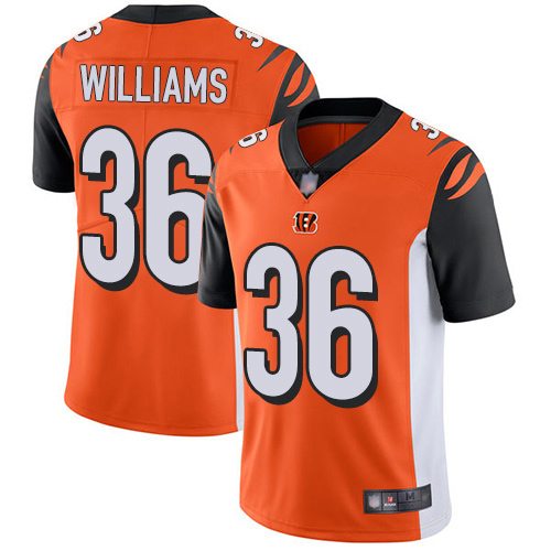 Bengals #36 Shawn Williams Orange Alternate Men's Stitched Football Vapor Untouchable Limited Jersey