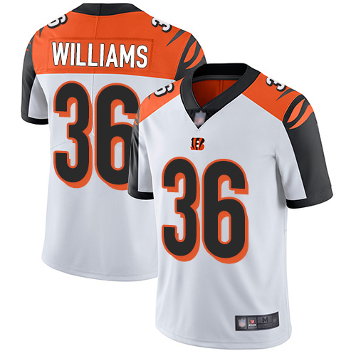 Bengals #36 Shawn Williams White Men's Stitched Football Vapor Untouchable Limited Jersey