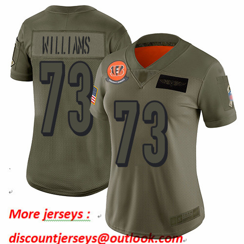 Bengals #73 Jonah Williams Camo Women's Stitched Football Limited 2019 Salute to Service Jersey