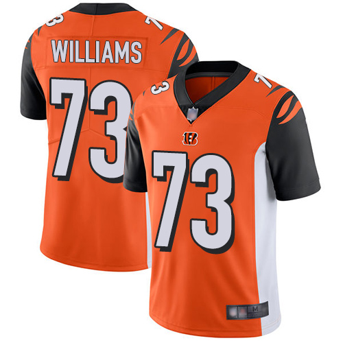 Bengals #73 Jonah Williams Orange Alternate Men's Stitched Football Vapor Untouchable Limited Jersey