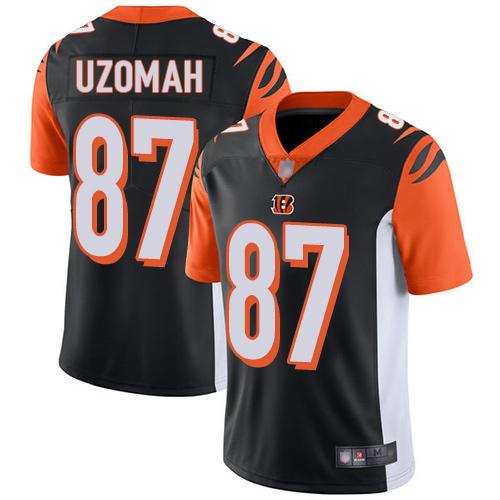 Bengals #87 C.J. Uzomah Black Team Color Men's Stitched Football Vapor Untouchable Limited Jersey