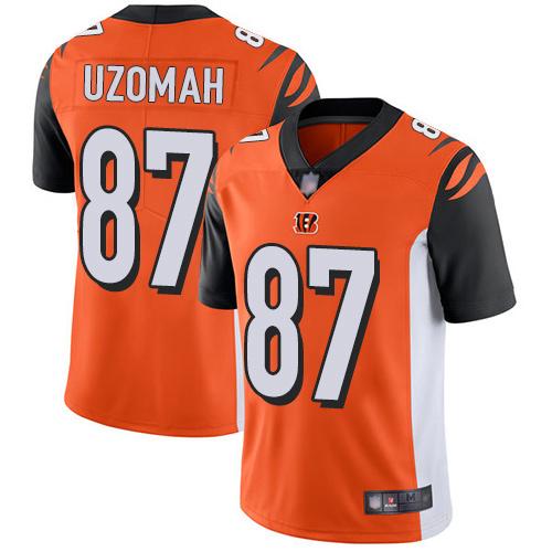 Bengals #87 C.J. Uzomah Orange Alternate Men's Stitched Football Vapor Untouchable Limited Jersey