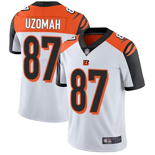 Bengals #87 C.J. Uzomah White Men's Stitched Football Vapor Untouchable Limited Jersey
