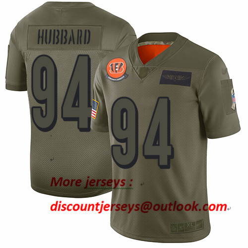 Bengals #94 Sam Hubbard Camo Men's Stitched Football Limited 2019 Salute To Service Jersey