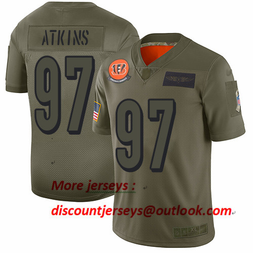 Bengals #97 Geno Atkins Camo Men's Stitched Football Limited 2019 Salute To Service Jersey