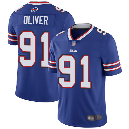 Bills #91 Ed Oliver Royal Blue Team Color Men's Stitched Football Vapor Untouchable Limited Jersey
