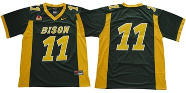 Bison #11 Carson Wentz Green Limited Stitched NCAA Jersey